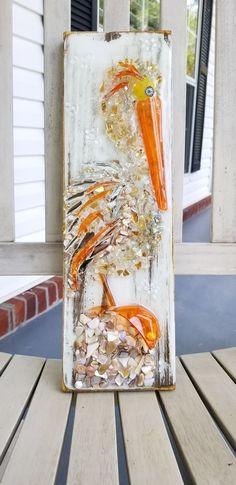 Broken Glass Art, Shattered Glass, Sea Glass Art, Glass Wall Art, Window Glass, Seashell Art, Seashell Crafts, Smash Glass, Crushed Glass