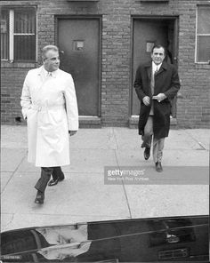 John Gotti and Jack Giordano outside the Ravenite