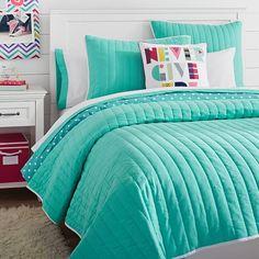 Color Pop Reversible Quilt + Sham | PBteen