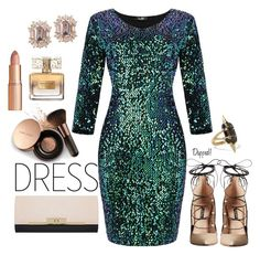"""""""Untitled #621"""" by dashe-diva ❤ liked on Polyvore featuring Nude by Nature, Ruthie Davis, Miss Selfridge, Givenchy, Charlotte Tilbury, Noir Jewelry, dress and under100"""