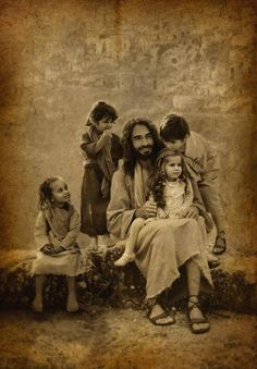 "But Jesus called them unto Him and said, ""Suffer little children to come unto Me, and forbid them not, for of such is the Kingdom of God. Lk Jesus Loves the little children.All the children of the world. Image Jesus, Padre Celestial, Saint Esprit, A Course In Miracles, Jesus Pictures, Jesus Pics, My Jesus, Son Of God, Heavenly Father"