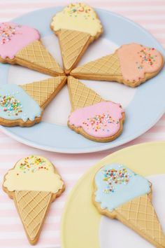 Ice cream biscuits