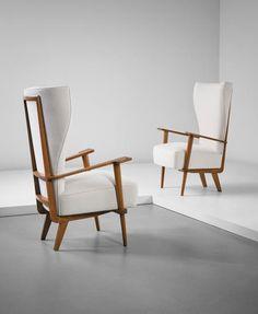 PHILLIPS : NY050215, Renzo Zavanella RENZO ZAVANELLA Pair of armchairs , 1940s
