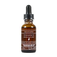 Enhance by Elixir Vape - Creme caramel with notes of cinnamon & spice.PROPRIETARY BLEND OF MACA, YOHIMBE, CINNAMON & GINSENG WITH ORGANIC FLAVORS & STEVIA EXTRACT.