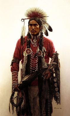 Angry Bear of the Blackfoot tribe n.d. A pow wow dancer? JE.  //Awesome photo EL//