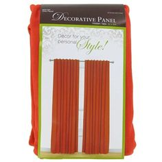 """This Orange Cotton Decorative Panel with Hidden Tabs easily slides onto a standard or decorative curtain rod. Simply scrunch and space panel for desired look.    The package contains one 52"""" wide x 84"""" high panel that is made of 55% Cotton and 45% Polyester."""