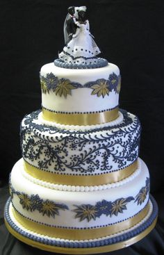 Modern African Wedding cake