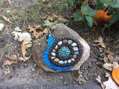 Mosaic Snail on a Garden Rock
