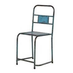 Distressed Metal Chair In Three Colours