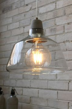 Concrete Top Glass Lights. Scandinavian style with Industrial twist - Fat Shack Vintage - Fat Shack Vintage