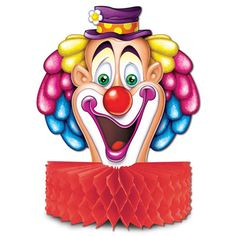 Clown Head Table Centrepiece, Party Table Decoration