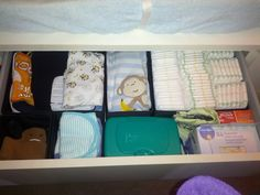 Blog on organizing baby stuff in limited space
