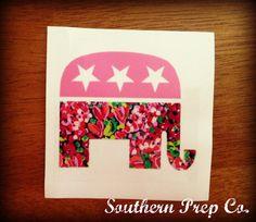 Preppy Republican Bumper Sticker by SouthernPrepCo on Etsy, $5.50