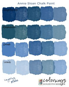 Greek blue chalk paint by Annie Sloan. Chalk Paint Colors Furniture, Blue Chalk Paint, Blue Paint Colors, Chalk Paint Projects, Colorful Furniture, Furniture Ideas, Diy Blue Furniture, Colours, Chalk Painting