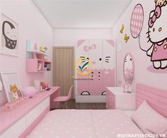 gorgeous 31 Excellent Hello Kitty Themed Bedroom Design Ideas That Looks So Cute