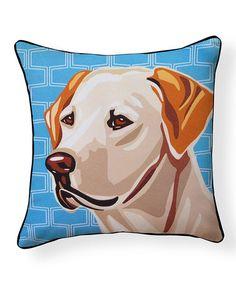 Look at this #zulilyfind! Labrador Pillow #zulilyfinds