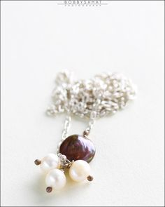 Sterling Silver Freshwater Pearl Necklace - Jewelry by Jason Stroud.