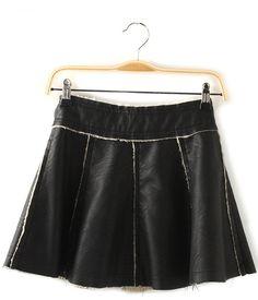 Faux Leather A-Line Women's Skirt    dresslily.com