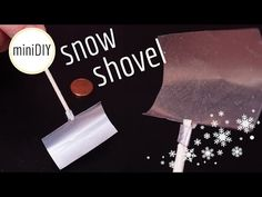 DIY miniature snow shovel ❄⛄ | DollHouse | miniDIY - YouTube