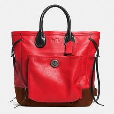 I. AM. LOVING. The Coach 2014 Fall line.  LOVING IT!  The Tatum Tall Tote In Workwear Leather from Coach
