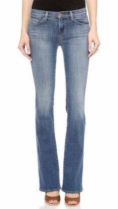 $188 J Brand Betty Bootcut Jeans in Disclosure Stretch Med Wash 25 x 33 NEW J361 #JBrand #BootCut