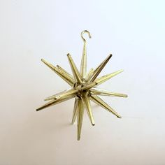 Vintage Christmas Ornament Gold Sputnik Star Mid Century Eames Era by efinegifts on Etsy