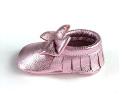 SOLID PIXIE DUST       Baby Moccasins Toddler by angelbabymoccs
