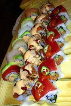 Sushi Boat @ Ohjah Las Vegas!!!!  Sushi Rolls!!