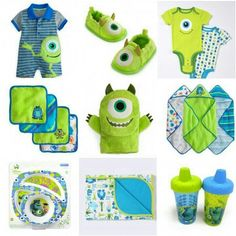 Baby monsters inc! Too cute Más Monsters Inc Nursery, Monsters Inc Baby Shower, Monster Nursery, Disney Babys, Baby Time, Cute Baby Clothes, Our Baby, Baby Gear, Future Baby