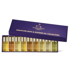 Aromatherapy Associates - Miniature Bath & Shower Oil Gift Collection, 10 therapeutic bath and shower oils Aromatherapy Associates, Relax, Fortnum And Mason, Thing 1, Aromatherapy Oils, Home Spa, Deep, Natural Oils, Body Care