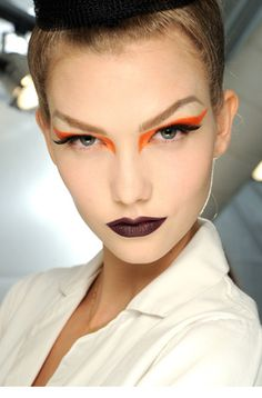 bold runway makeup w/ lashes - buy your crazy contact lenses and accessories at www.youknowit.com #contactlenses #halloween #fancydress