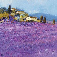 Wild Lavender, Provence Art Print by Hazel Barker - WorldGallery.co.uk