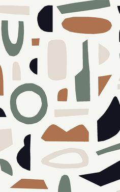 Matisse Inspired Wallpaper | Abstract shapes | MuralsWallpaper