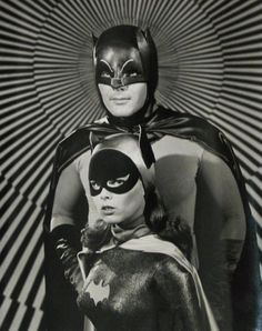 Batman and Batgirl, 60s.  Save the memories of your era at http://www.saveeverystep.com