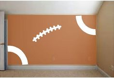 Turn your wall into a FOOTBALL by liveoakpro on Etsy, $35.00 Boys Football Room, Football Bedroom, Football Wall, Sports Bathroom, Diva Design, Kids Bedroom, Bedroom Ideas, My Guy, New Room