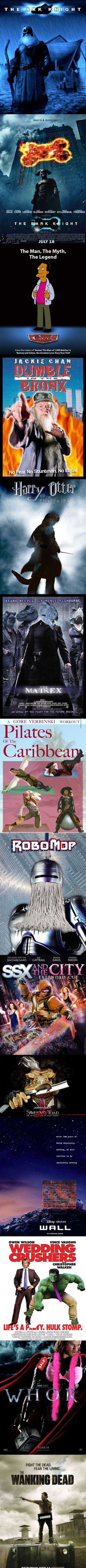 How Changing One Letter Of A Movie Title Can Affect Its Content! (16 Pics) omggggg pilates of the carribean!