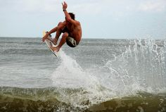 Monster skimboard jump!