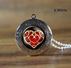 Necklace,life Zelda heart container Locket Necklace, life Zelda heart container Necklace $8