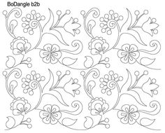Bodangle digital pantograph designed by Anne Bright Cushion Embroidery, Bead Embroidery Patterns, Crewel Embroidery, Hand Embroidery Designs, Beaded Embroidery, Cross Stitch Embroidery, Machine Embroidery, Craft Patterns, Quilt Patterns