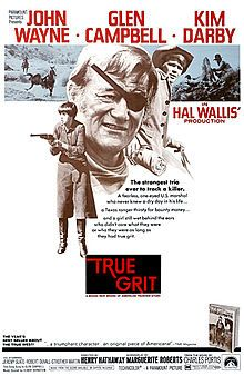 True Grit is a 1969 American Western film written by Marguerite Roberts and directed by Henry Hathaway. It is the first adaptation of Charles Portis' 1968 novel True Grit. John Wayne stars as U.S. Marshal Rooster Cogburn and won his only Academy Award for his performance in this film. Wayne reprised his role as Cogburn in the 1975 sequel Rooster Cogburn.