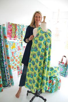 9d99c270ec9d6 The Kiomi Dress by Lotta Jansdotter in my Eternal Sunshine quilting cotton  - Rose Lore/