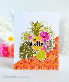 Hello Card by Kay Miller for Papertrey Ink (July 2016)