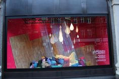 String Rain     #window #display #retail