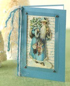 Old World Santa Christmas Card
