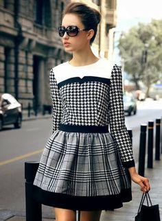 THIS IS one of the best dresses i have seen. Fun yet sophisticated. O prazer de ter estilo com... Sheinside!!!