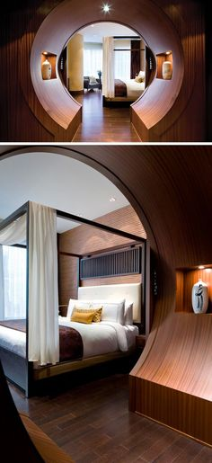 You Enter The Bedroom Of This Hotel Suite Through A Moon Gate