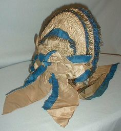 1860's Blue and White Bonnet