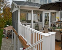 Elevated Screen Porch on composite deck A different view