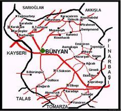 1288=1872 senesi vergi kayıt defterlerinde Bünyan .