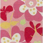 pink floral & butterfly rug   westoncarpet.com